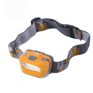 Plastic adjustable led headlamp Battery operated 3W Running COB Head lamp