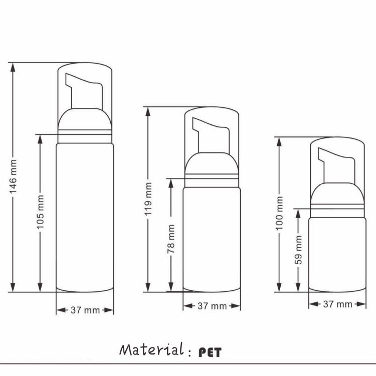 Free Sample 150ml Pink Plastic Cosmetic Foam Pump