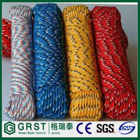 outdoor polyester double braid climbing rope