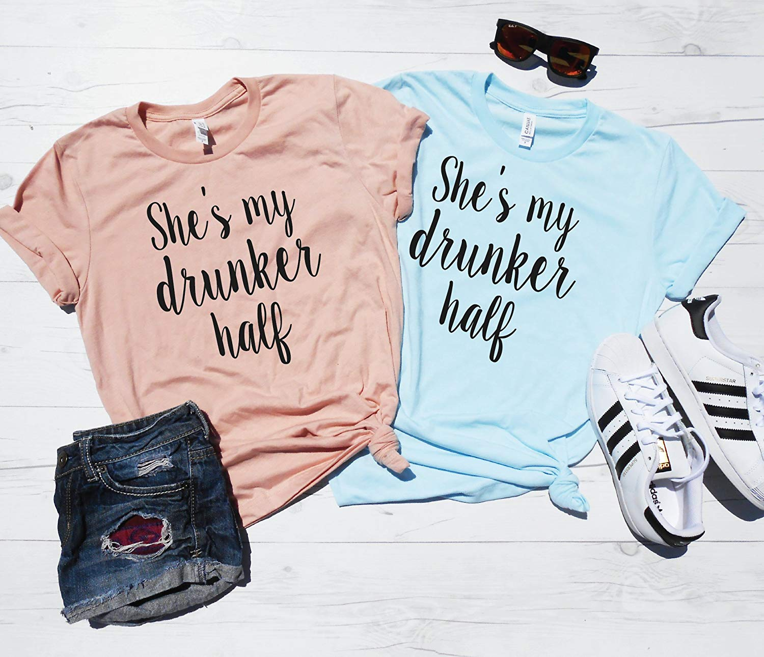 3fc3843e6ade5 Get Quotations · She s My Drunker Half Tee Shirt