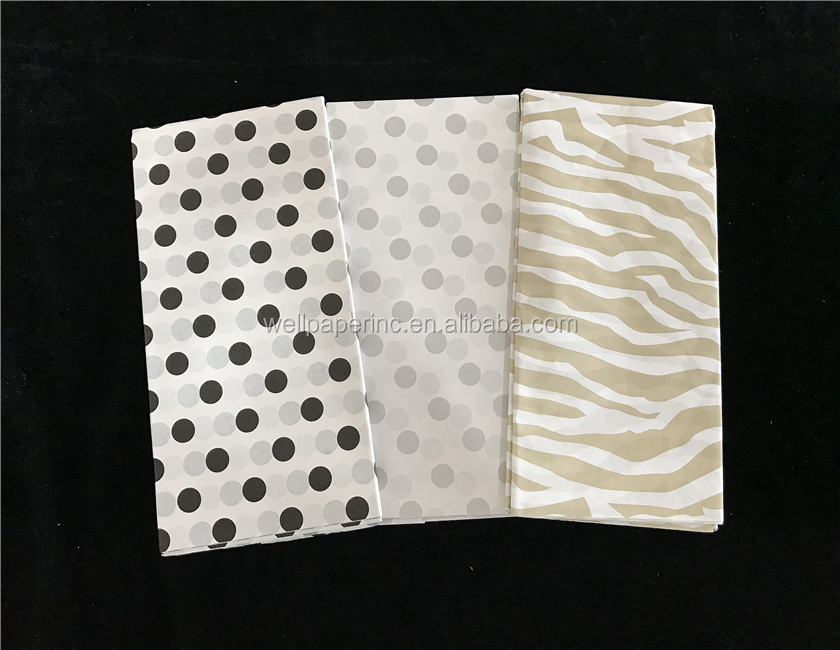 Eco-friendly Gift Wrapping Paper / Tissue paper with logo , Gift Wrap in Assorted Light Color, custom print wrap paper
