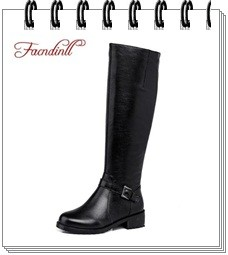 FACNDINLL winter warm down women waterproof shoes snow boots ladies fashion knee high boots woman black casual thigh high boots