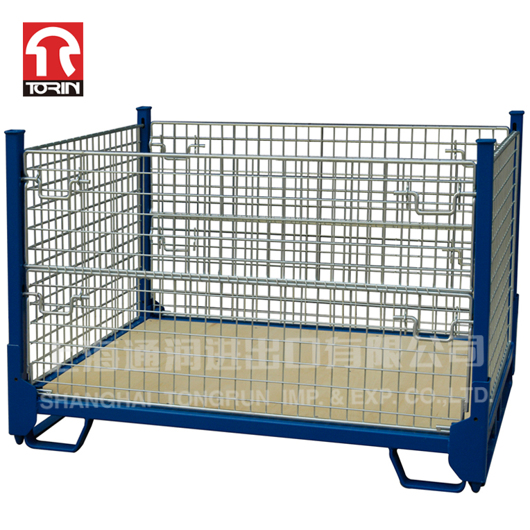 TORIN LK21 European Folding Small Welded Steel Wire Mesh Container