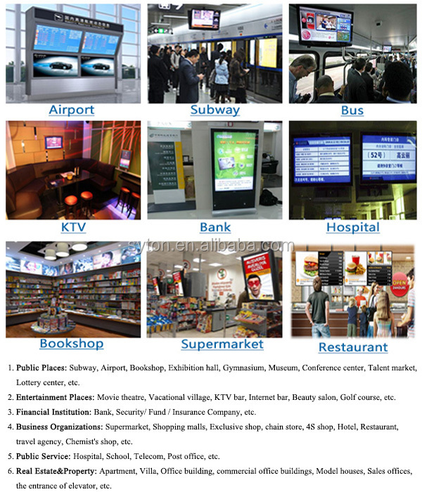 Round Corner Lcd Advertising Wall Mount Digital Signage Display ...
