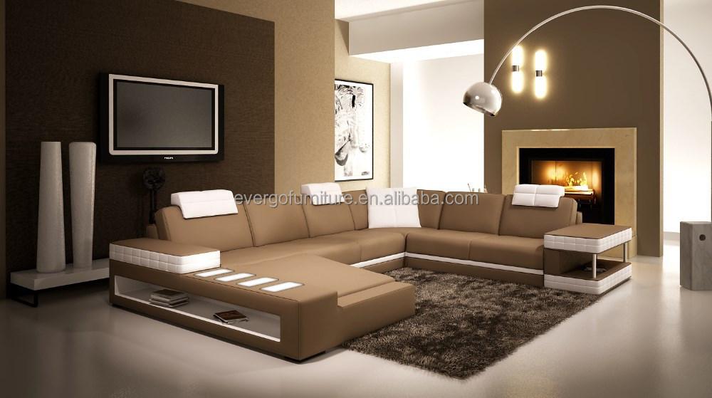 hoek woonkamer sofa bank in de woonkamer met led licht-woonkamer ...