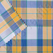 100% COTTON SPACEDYED PLAID FABRIC