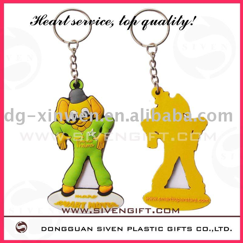 super stars Flexible key tag for promotion gift