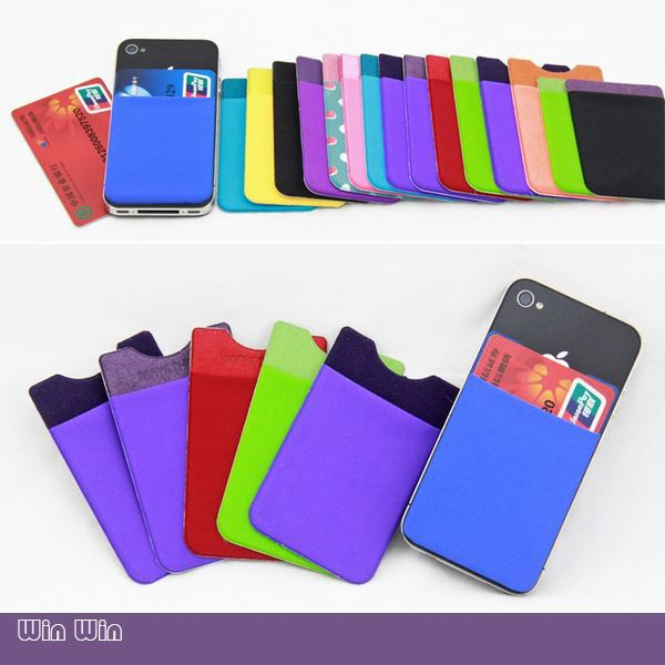 Soft Silicone Card Holder Custom Print Logo Business For Cell Phone