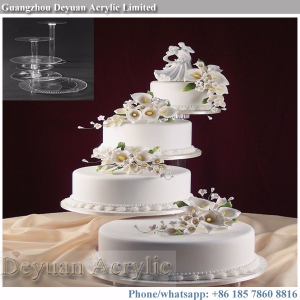 Custom wedding cake plates and stands top quality