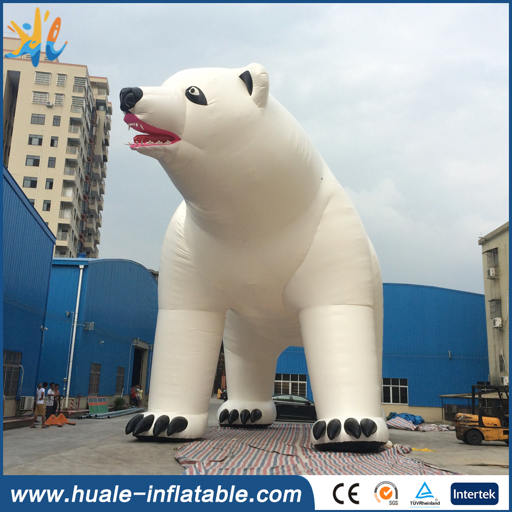 High quality giant outdoor inflatable polar bear for advertising