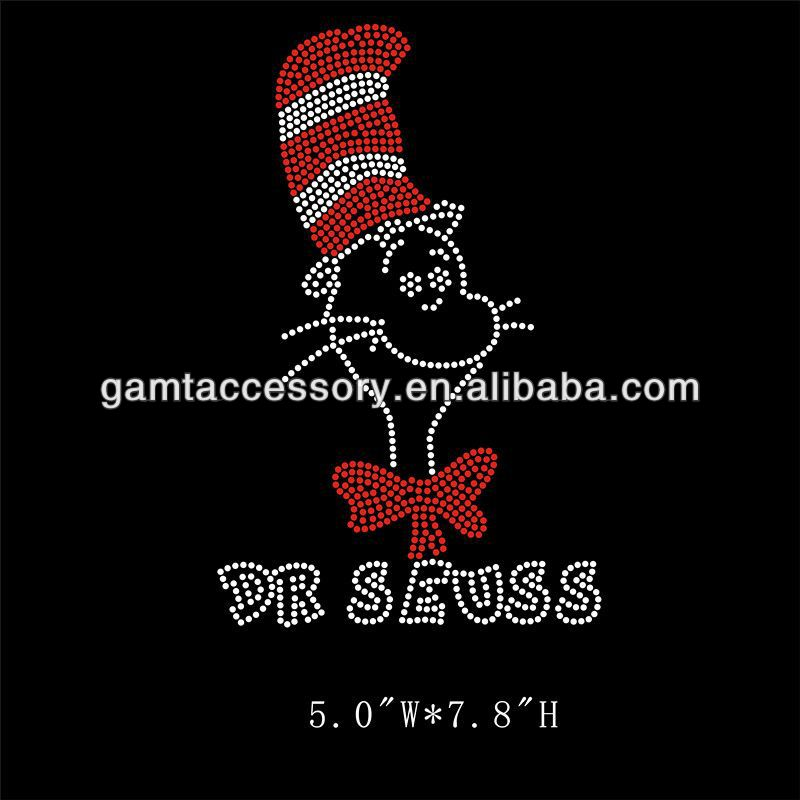 Dr.Seuss iron on rhinestone transfer designs for clothing