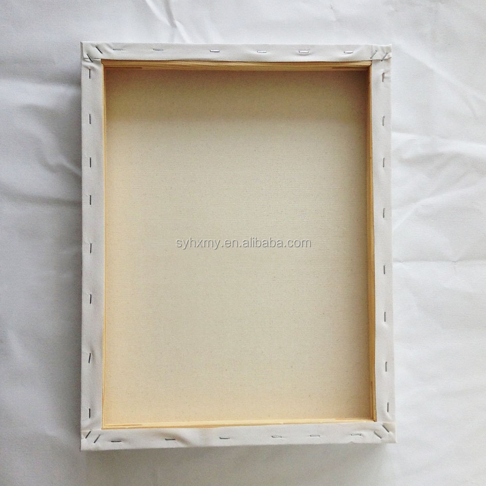 "14""*18"" blank stretched painting canvas with wooden frame for acrylic paints"