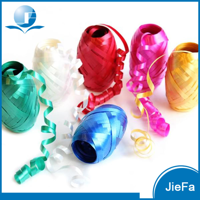Low Price High Quality Factory Direct Decorative Promotional Packing Metallic/PP Curling Ribbon Eggs Gift Curly Ribbon Egg