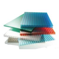 Transparent Polycarbonate Hollow Sheet Plastic panel for Greenhouse ,ceillight panels