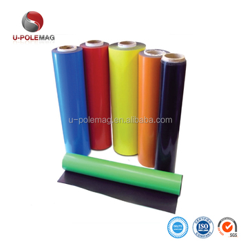 Flexible Coloured Magnetic Roll With PVC