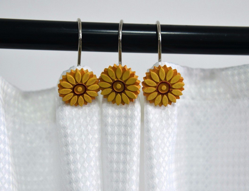 Shower Curtain Rings Beavo Rose Shower Curtain Hooks 12 Pcs