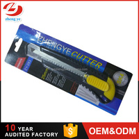 Safety lock 25mm Carbon Blades utility knife,stainless steel pocket utility knife cutter tool