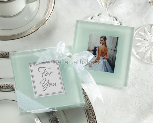 Wedding Favors Photo Frame Glass Coaster - Buy Wedding Favors Photo ...
