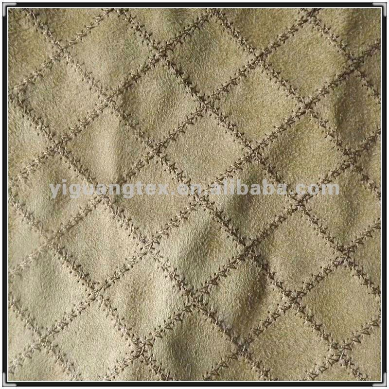 Embroidered Composited Microfiber Suede Upholstery Fabric For Car