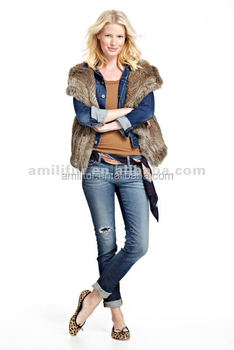 2015 ladies beautiful high quality fur jacket