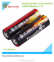 AA 14500 3.7V 900mah Lithium Ion Battery Cell MP3 players, photographic equipment, language repeater, electric toys, handheld