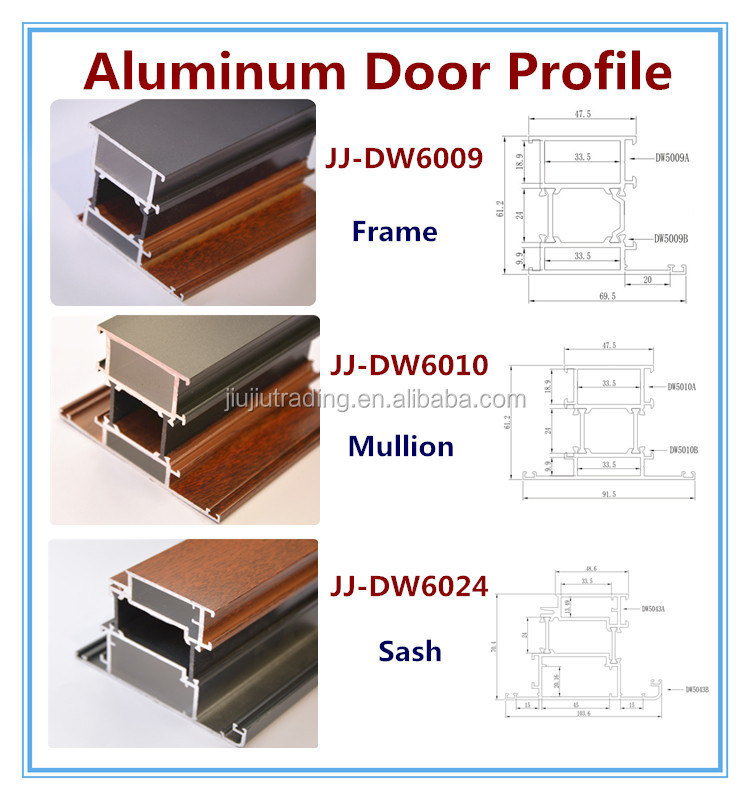 Aluminum Door Extrusion Track Frame For Glass Buy