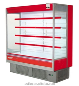 Plug in Open Dairy Refrigerated Display Case Commercial Fridge