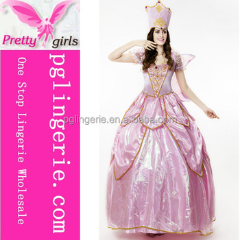 High Quality halloween adult costumes Sleeping Beauty Princess Costume Pink Dress