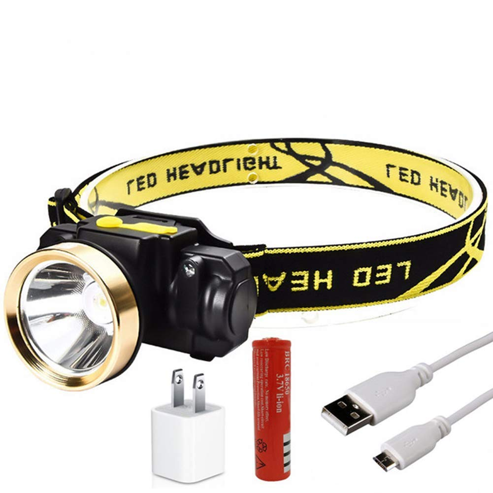 EDTara LED Headlamp USB Rechargeable Headlamp Flashlight 10W Mini Lightweight Super Bright Head Lights Induction Headlight for Outdoor Camping Hiking Fishing and Running