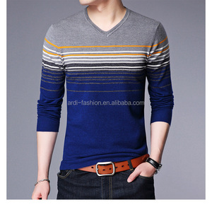custom namely mens spring autumn stripe knitwear