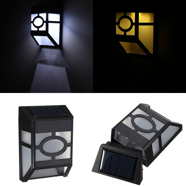 Pequeno Iluminação Solar Para Parede Cerca Parques Jardim E Pátios  Iluminação Exterior