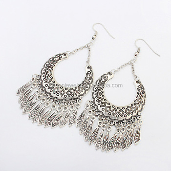 Fashionable Antique Silver Tanishq Earrings Designs Buy Tanishq