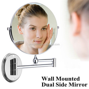 Hot selling Dual Side Cosmetic Mirror Wall Mount Bathroom 10X Magnifying Makeup Mirror