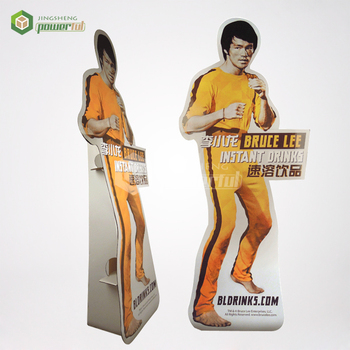 manufacturer 4c printing advertising cardboard lifesize cutouts of