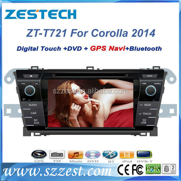 ZESTECH for <strong>Toyota</strong> <strong>Corolla</strong> 2014 Car DVD with GPS Navigation mp3 player fm radio