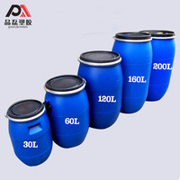 30L 50L 60L 120L 160L 200L Blue Plastic Drum Storage Containers for foods/water/chemicals/fuel packing