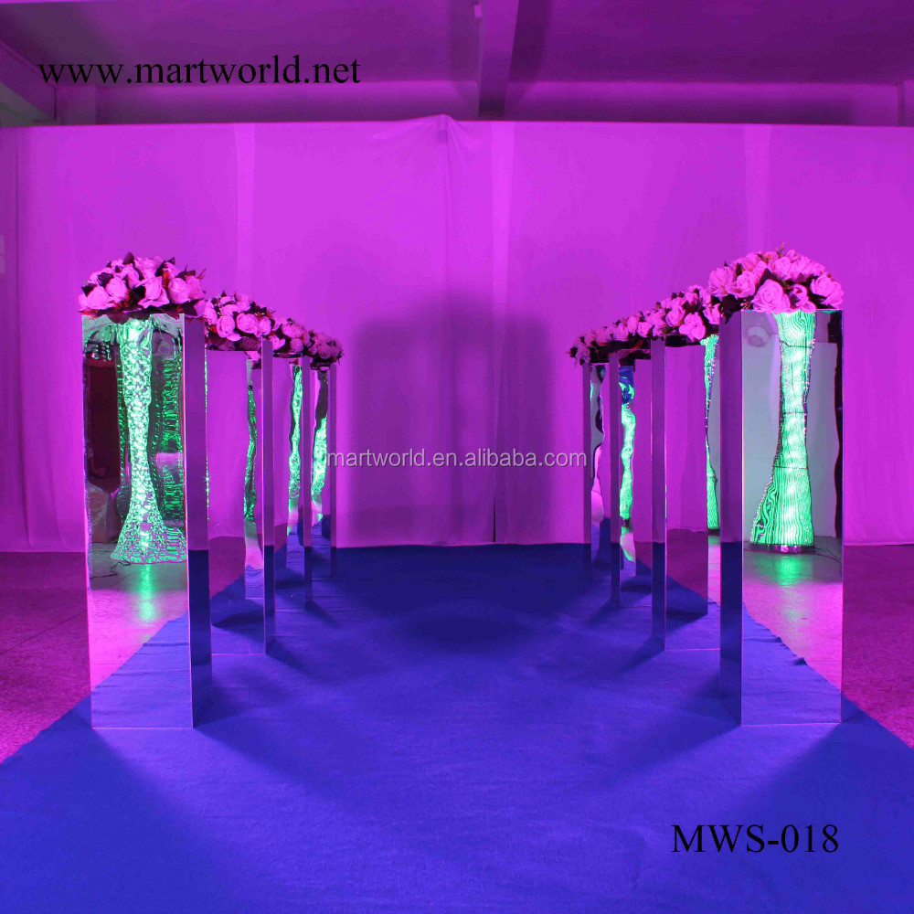 39 inch height square silver mirror column party and wedding 39 inch height square silver mirror column party and wedding decoration supplies in guangzhoumws junglespirit Choice Image