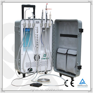 CE Approval Dental Portable Unit Portable Dental Chair with Saliva ejector and 3-way syringe: