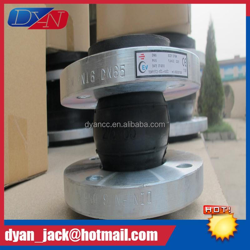 Professional Single Sphere din standard pn16 rubber expansion joint for radiation hardening