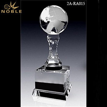 Custom Engraved Blank Crystal Globe Award For Souvenir