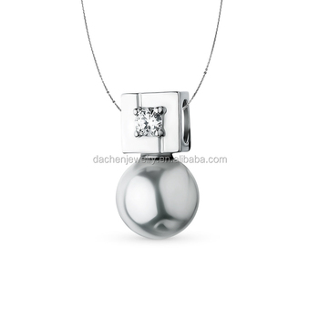 Single Pearl Necklace Designs For Women 925 Sterling Silver Jewelry