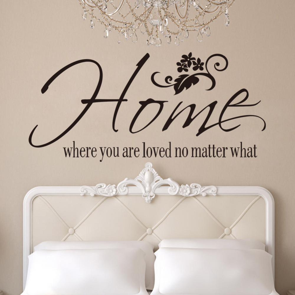 ZY8234 home where you are loved no matter what English Proverbs Wall Sticker home decoration creative decorative wall sticker