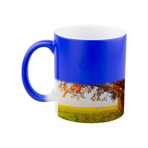 11 Oz Wholesale Ceramic Coffee Sublimation Custom Photo Thermal Color Changing Mugs