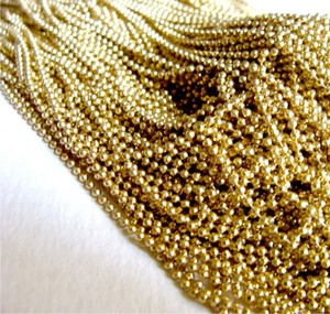 Wholesale metal faceted ball chain