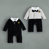 Wholesale Gentleman Baby Boy Clothes Formal Outfit Romper For Party Wear