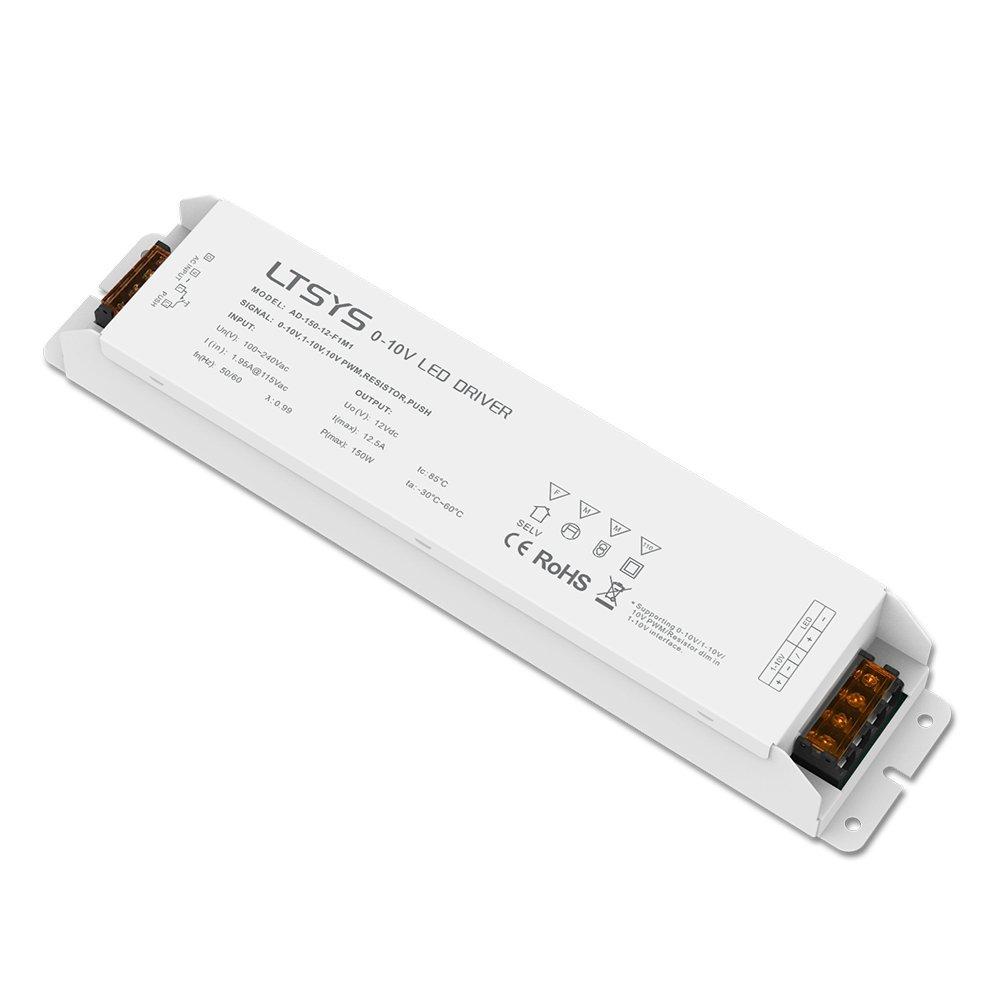 0-10V / 1-10V Intelligent Dimmable LED Driver 150W 12VDC CV Constant Voltage PWM Dimmer Controller LED Driver