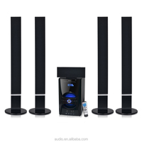 Professional stereo 5.1 tower home theater speaker wireless powered hifi column speaker