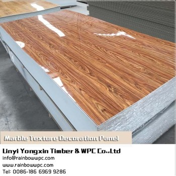 light reflection decorative wall panels for bathroom marble texture composite facade cladding