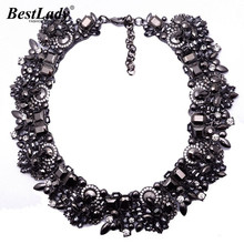 Barlaycs New Arrival Fashion Statement Luxury Black ZA Brand Gem Vintage Shourouk Collar Choker Necklace Women Jewelry 3785