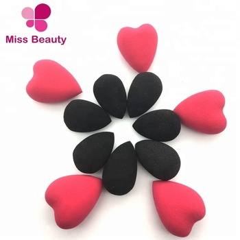 Latex Free Very Soft Antiallergic Mini Heart Shape Makeup Sponges Cosmetic Blender Hydrophilic 3D Makeup Blending Sponge